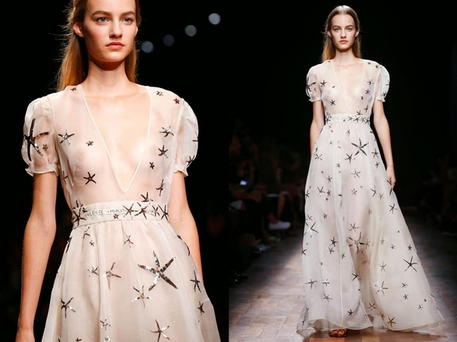 Valentino 2015 SS Starfish Sheer Mesh Dress