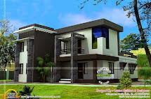 Modern Flat Roof House 2550 Square Feet - Kerala Home