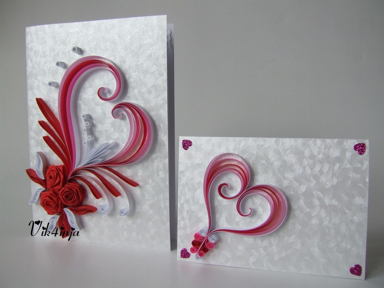 Квиллинг открытки к свадьбе 72