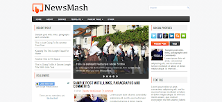 News Mash Blogger Template