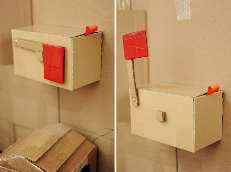 Rust sunshine cardboard playhouse for How to make a letterbox out of cardboard