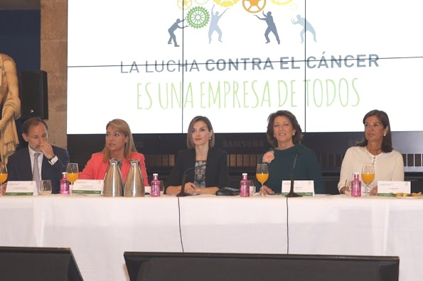 Queen Letizia Attended A Meeting With Members Of AECC
