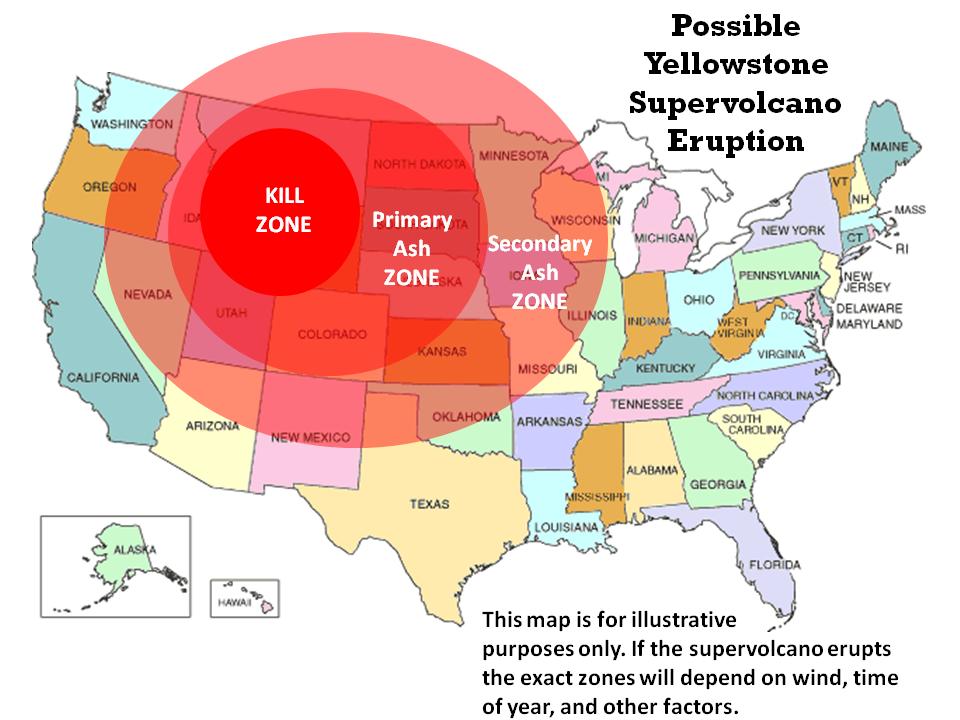 Super volcanoes map