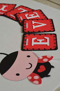 Ladybug birthday baby shower banner