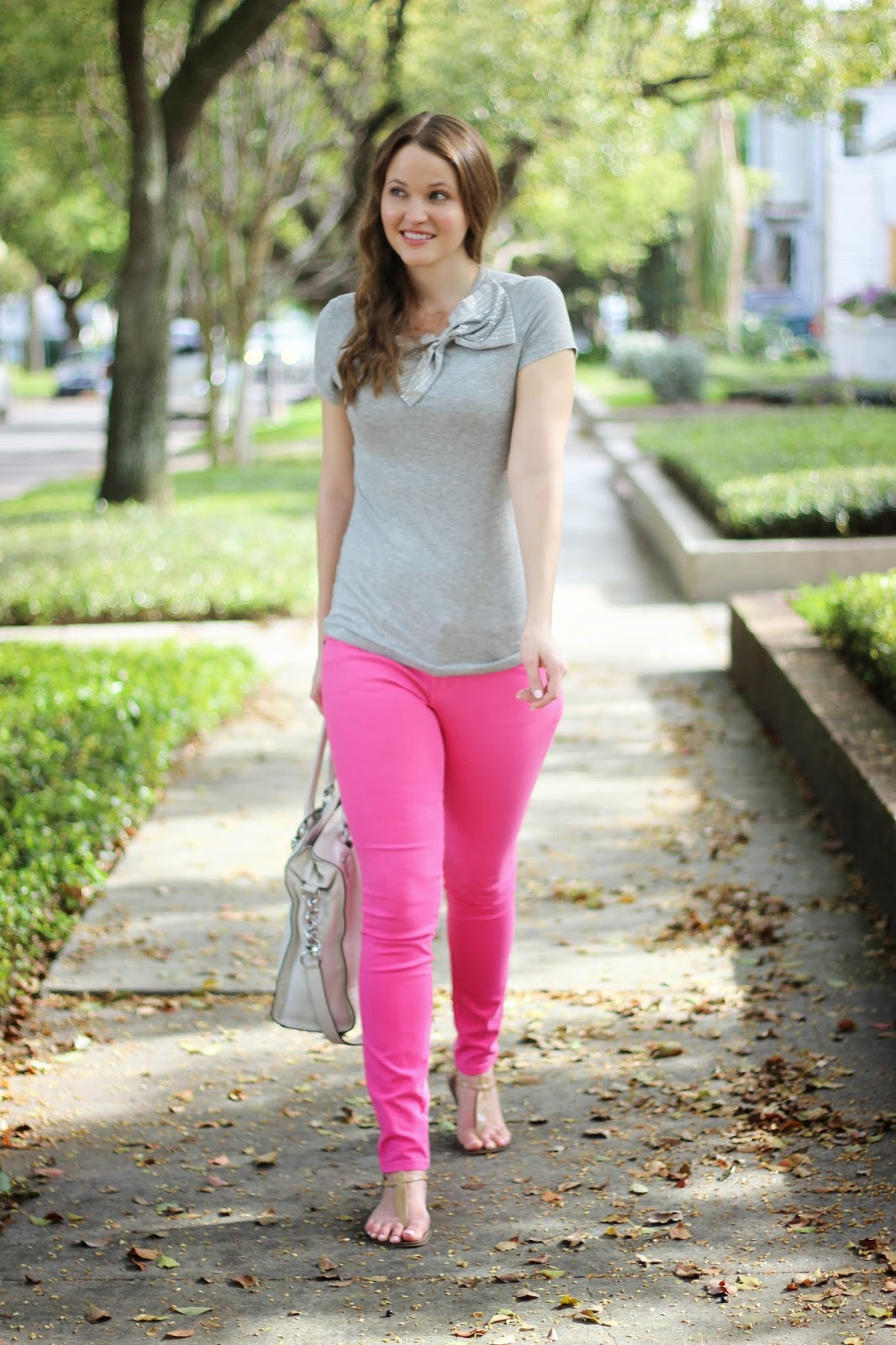 Pink Jeans And A Big Bow Kelly Elizabeth Style