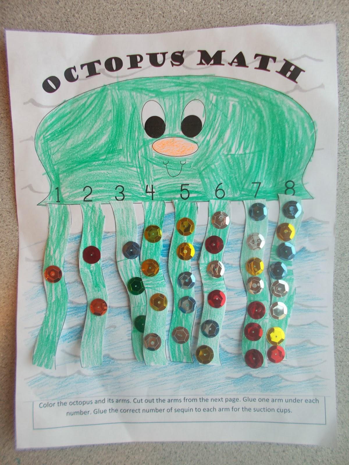Chipman\'s Corner Preschool: O is for Octopus Math