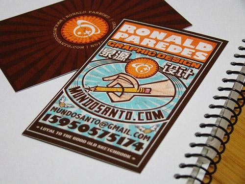 Cartões de visita criativos - Ronald Paredes - Design Gráfico