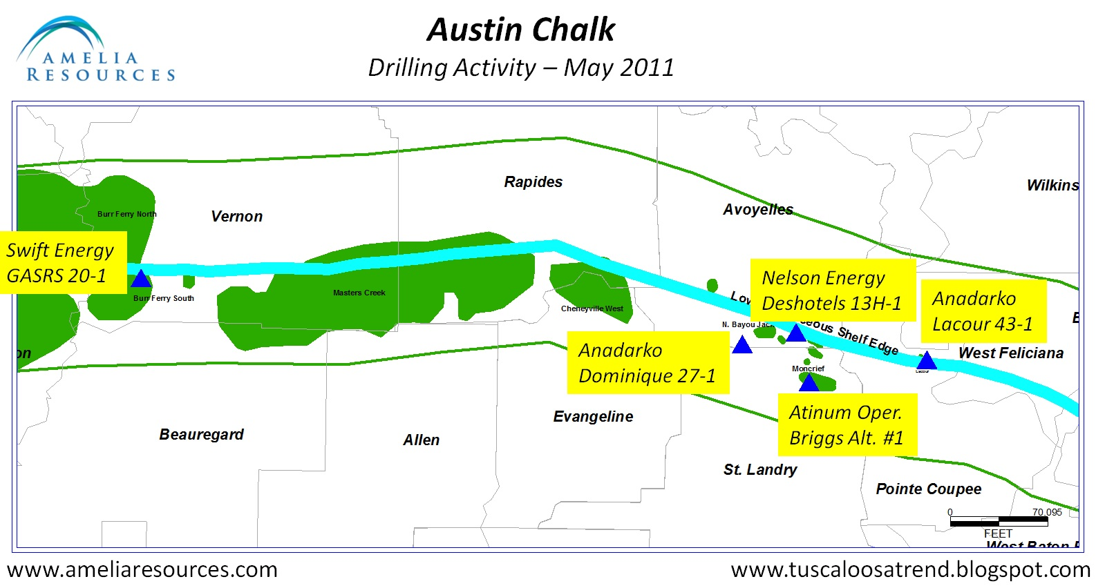Tuscaloosa Trend The Austin Chalk Drilling Activity Heads
