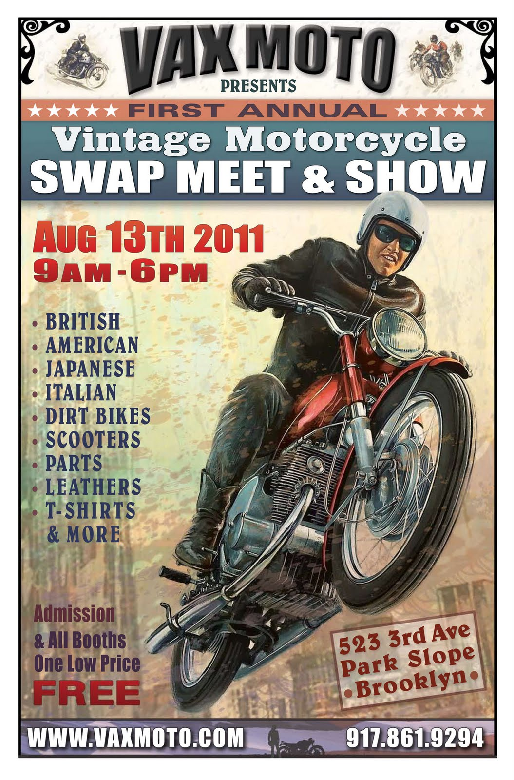 Vintage Motorcycle Swap Meet Show In Brooklyn Tomorrow