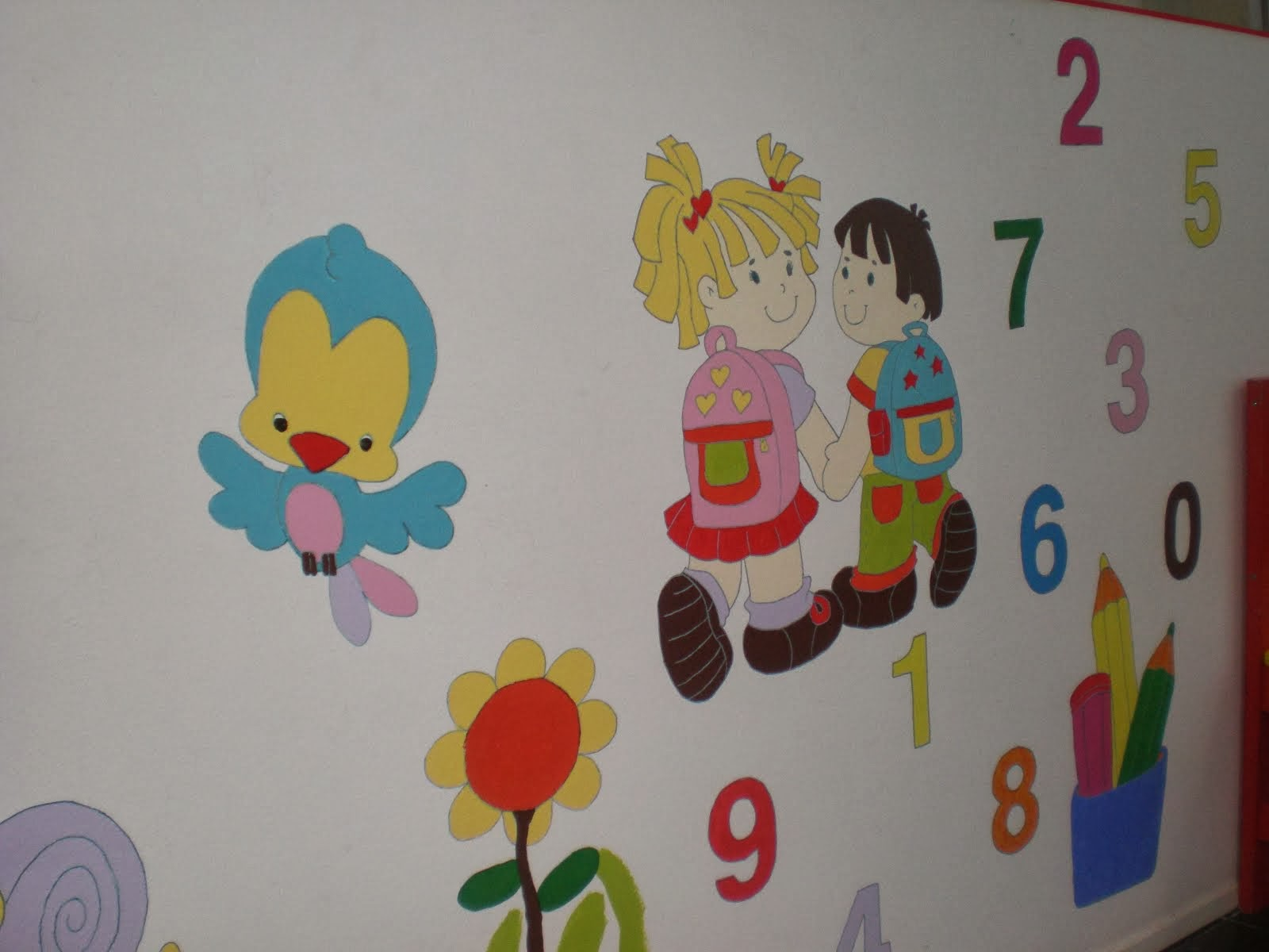O nosso mural de entrada