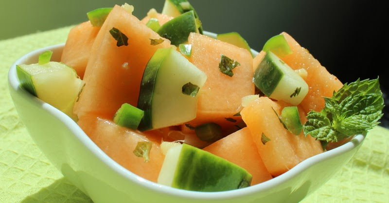 Tried in Blue: Weird Recipe Wednesday: Spicy Cucumber-Cantaloupe Salad