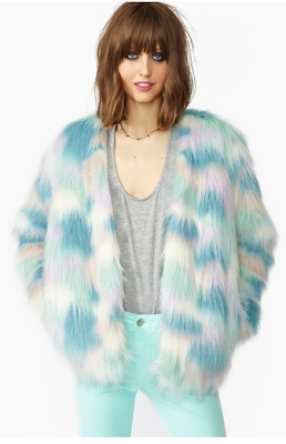 Fantasy Faux Fur Coat Nastygal