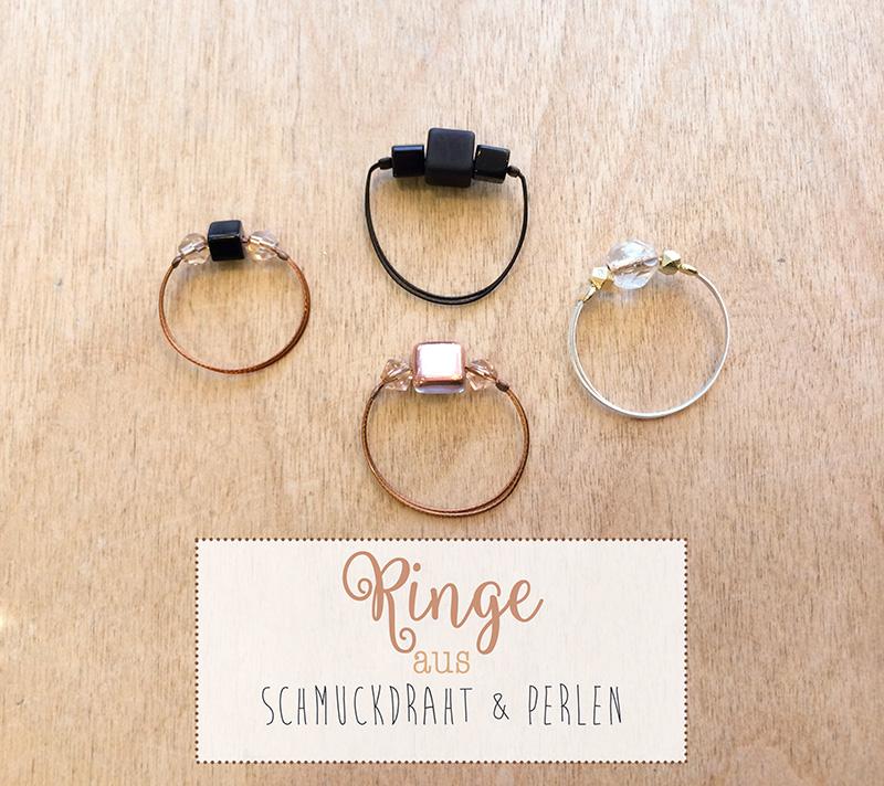 Ringe aus Schmuckdraht und Perlen | von mri