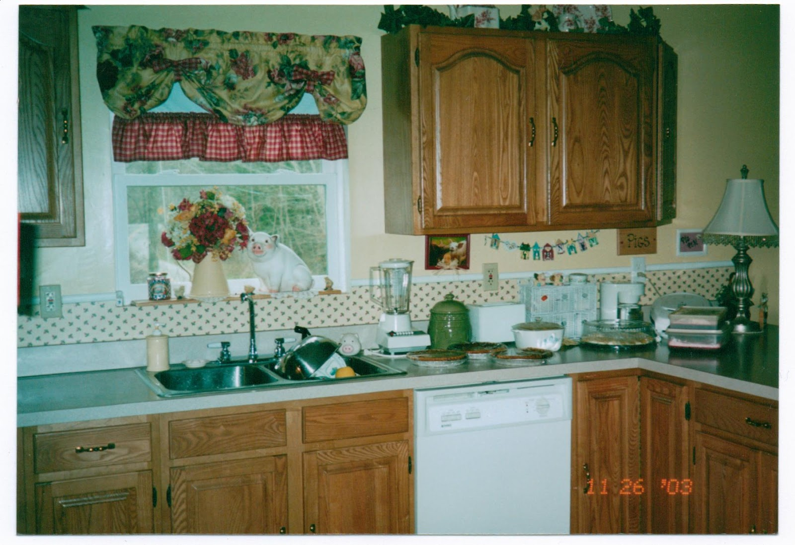 Honey Oak Cabinets Painted Before and After