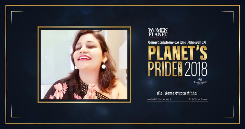 Honoured with the coveted 'Planet Pride's Award 2018'