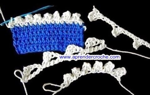 variações do ponto picô aprender croche