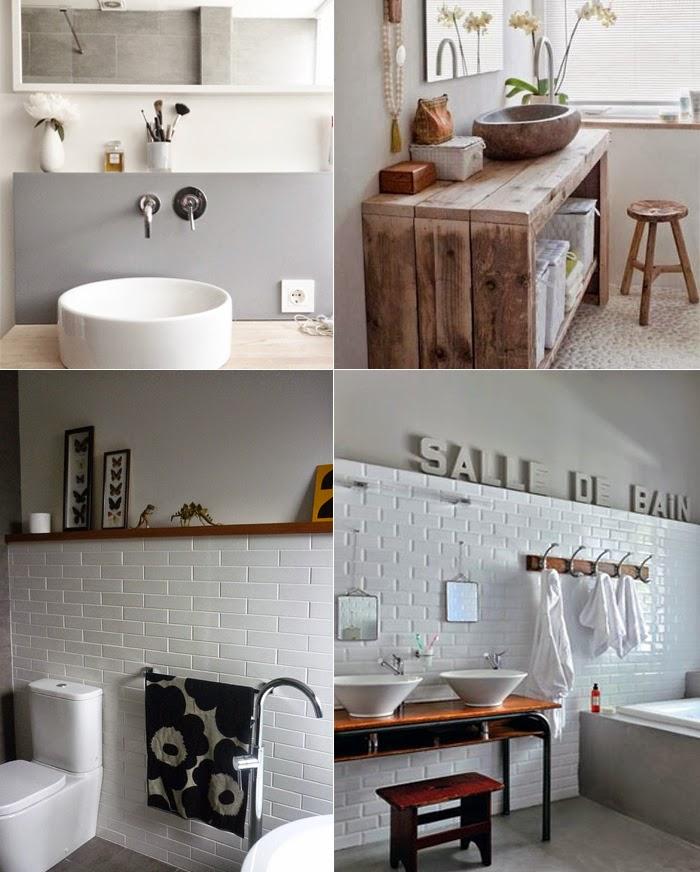 Stunning Salle De Bain Noir Blanc Bois Ideas - lionsofjudah.us ...