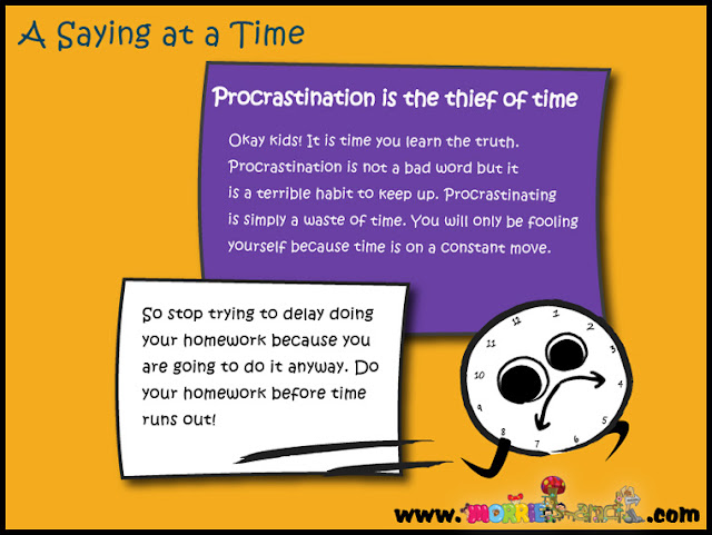 essay on procrastination is the thief of time Procrastination: dealing with the thief of time the simple truth about procrastination 'nothing is so fatiguing as the eternal hanging on of an uncompleted task,' the psychologist william james, famously once said and he's right, i get exhausted by thinking of all the things i have to do on my to-do list.