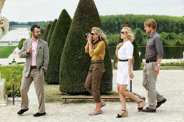 Pariste Gece Yarısı filmi Versailles sahnesi, Gil, Inez, Paul, Carol, Owen Wilson, Rachel McAdams