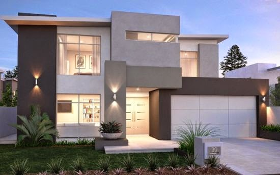Desain Rumah Minimalis 2 Lantai Tanah 90
