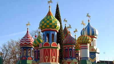 Decoración rusa del Parque de Atracciones de los Jardines de Tivoli