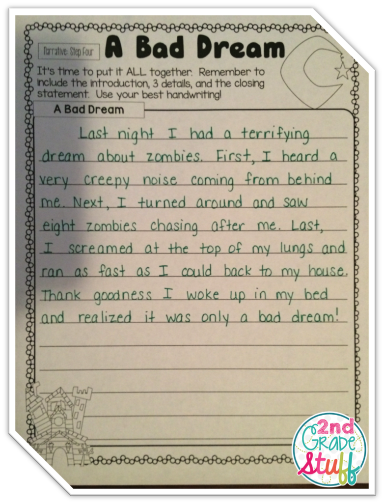 Second Grade: Writing Sample 4