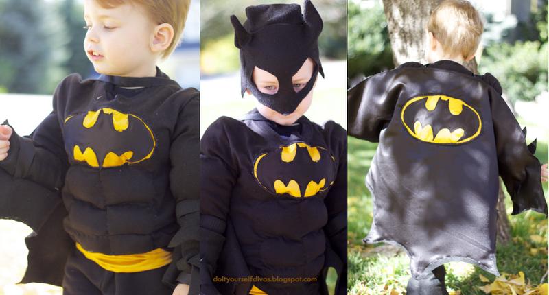 Do it yourself divas diy superhero muscle shirt diy batman costume batman cape tutorial found here solutioingenieria Images