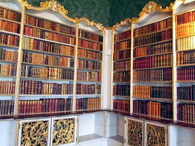 Wrest Park library bookshelves