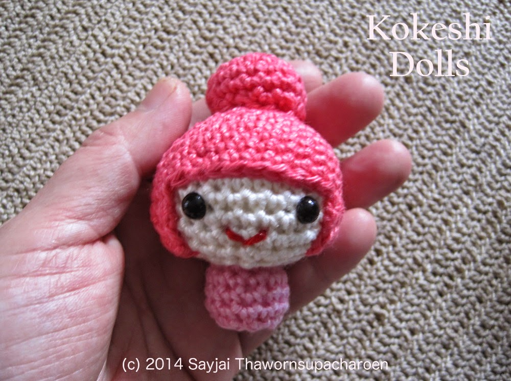Amigurumi Free Pattern For Beginners : Amigurumi Kokeshi Dolls - Sayjai Amigurumi Crochet ...