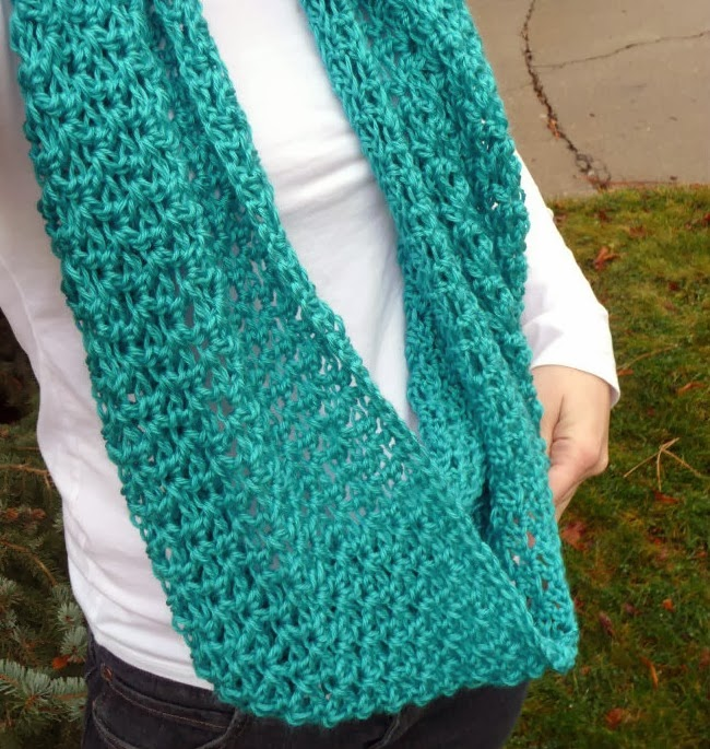 http://www.domesticblisssquared.com/2012/12/lacey-scarf-crochet-pattern.html