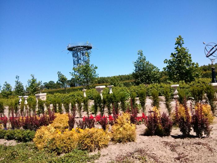 Ogrody Hortulus Spectabilis w Dobrzycy, wieża widokowa