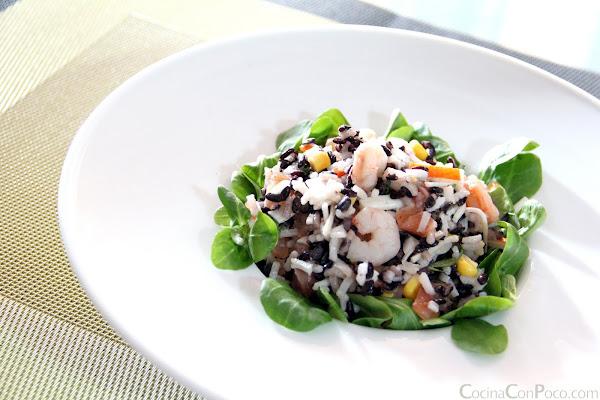 receta ensalada arroz salmon