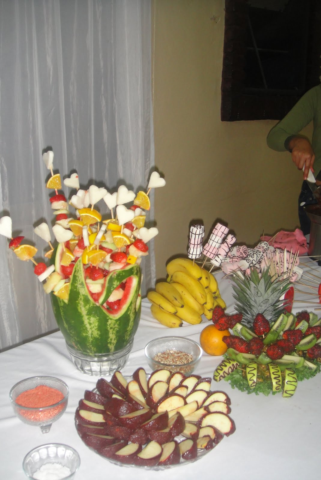 Decoracion frutal fuentes de chocolate y chamoy enero 2011 for Como secar frutas para decoracion