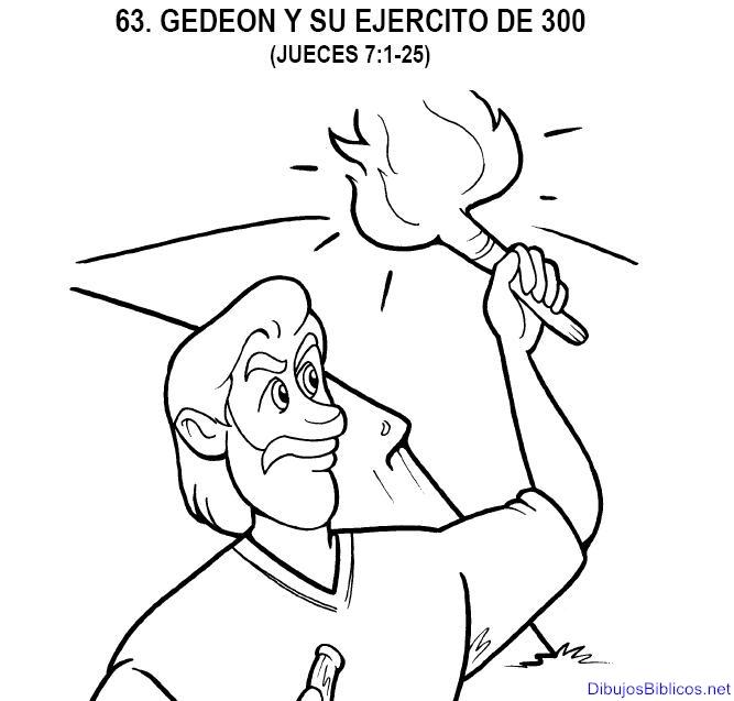 Para colorear: dibujos de Gedeón ~ EBI Mexico