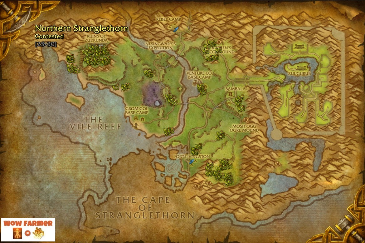 Wow farmer bruiseweed best place to farm wow herbalism bruiseweed best place to farm wow herbalism northern stranglethorn eastern kingdoms wow herb gumiabroncs Gallery