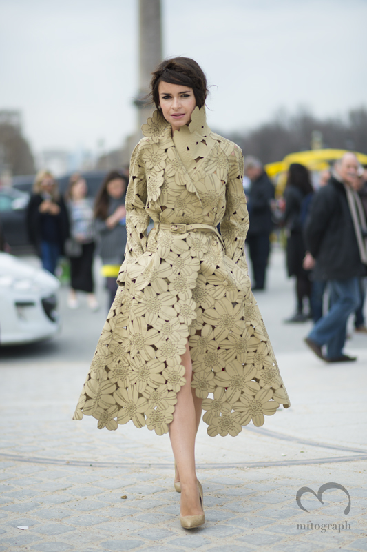mitograph Miroslava Duma wearing Valentino Before Valentino Paris Fashion Week 2013 2014 Fall Winter PFW Street Style Shimpei Mito