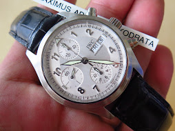 IWC CHRONOGRAPH WHITE SILVER DIAL - AUTOMATIC