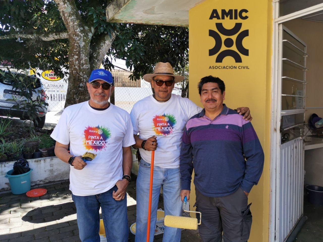 CRISTIAN TECZON PRESIDENTE DE AMIC VERACRUZ, ENCABEZA CON ROTARIO XALAPA MANANTIALES REHABILITACIÓN