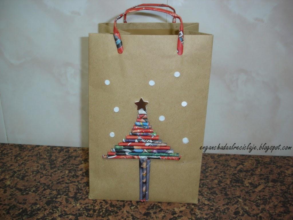 Vamos a reciclar bolsa de papel para regalo - Bolsas para decorar ...