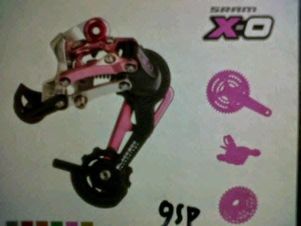 Jual RD Sram X0 Carbon Medium Cage 9 speed Pink