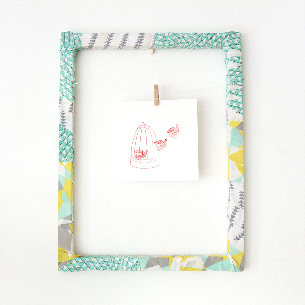 Chi chi dee handmade fabric wrapped picture frames for Fabric picture frames