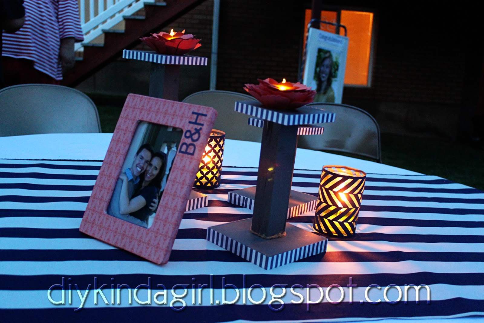 Candles Mason Jars And Tealights Already Had From Last Wedding 0 45 Each For Cutout Cover 7 20 Total Patterned Paper Frame 71 5 68