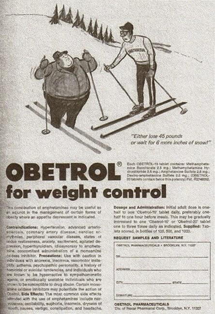Obesidad, antetaminas y publicidad