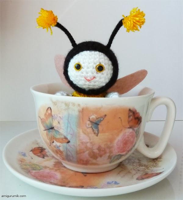 амигуруми пчелка