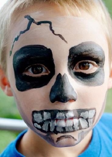 Moda para peques maquillaje de halloween para ni os 2015 - Como pintar la cara de nina de bruja ...