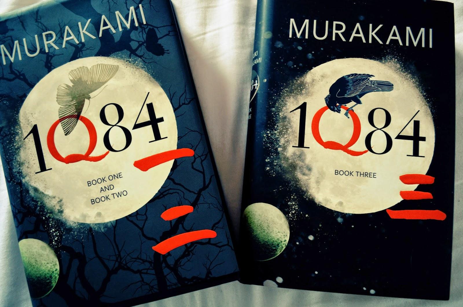 1Q84, Haruki Murakami, book 1 2 and 3, UK edition, photo, photograph, hardback, Japanese, literature,