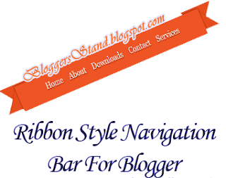 Add Ribbon Style Pressing Tabs Navigation Menu Bar for blogger