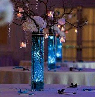 Centros de mesa con ramas y cristales parte 3 - Cristales de colores para mesas ...