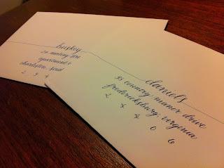 spring wedding calligraphy invitations