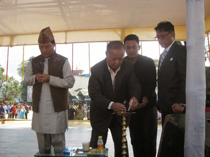 Bimal Gurung - MLA Trilok Dewan at Open Air Theater at Darjeeling Chowrasta
